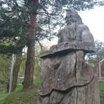 Vaclovo DUBIKALČIO sukurta skulptūra 1987 metais simbolizavo Imsrės upelio poilsio zonos pradžią